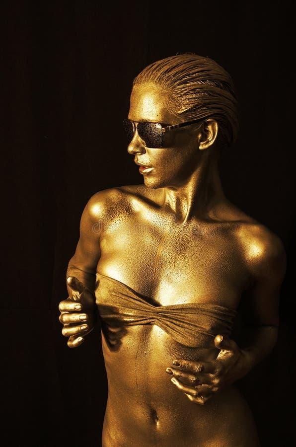Gouden dame stock afbeeldingen