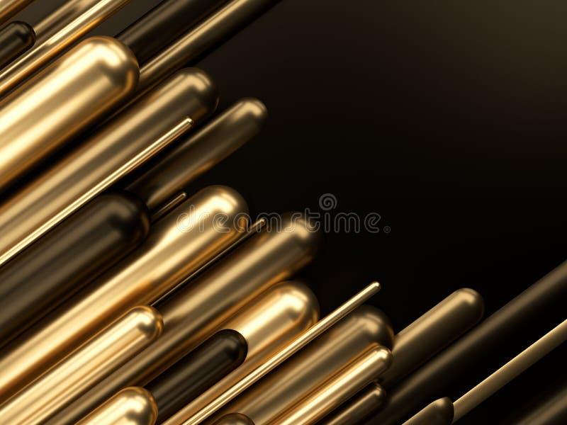 Gouden de luxe 3d illustratie van het bedrijfsfinanciënsucces stock illustratie