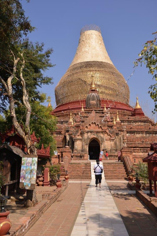 Gouden de Pagodestupa van Birma Myanmar royalty-vrije stock foto