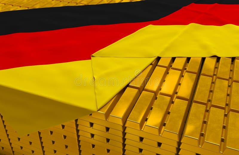 Gouden de reservevoorraad van Duitsland vector illustratie