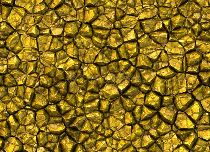 Gouden de textuur glanzende achtergronden van de stenenhulp stock foto