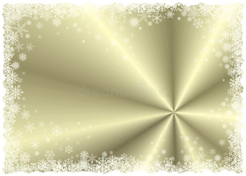 Gouden de winterframe royalty-vrije illustratie