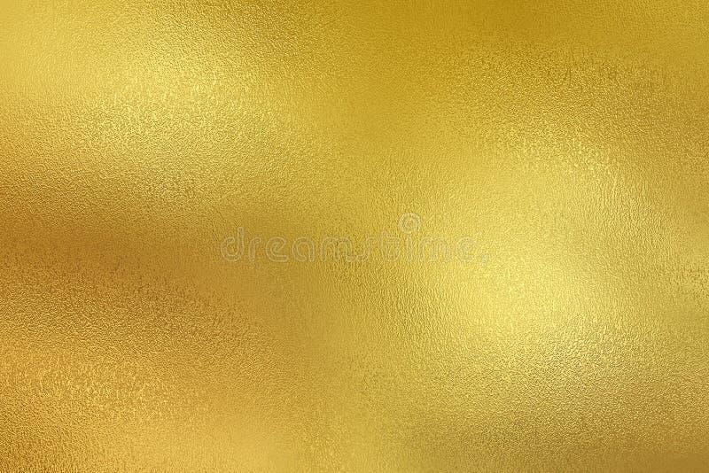 Gouden decoratieve de textuurachtergrond van de metaalfolie royalty-vrije illustratie