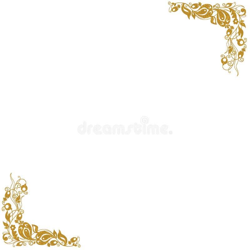 Gouden Decoratieve Hoeken Royalty-vrije Stock Foto