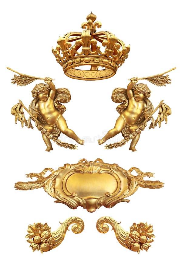 Gouden detail stock afbeeldingen