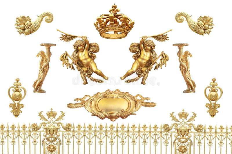 Gouden detail stock fotografie