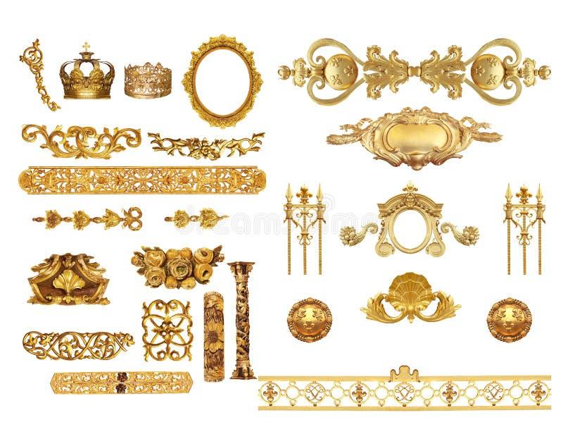 Gouden detail royalty-vrije stock afbeeldingen