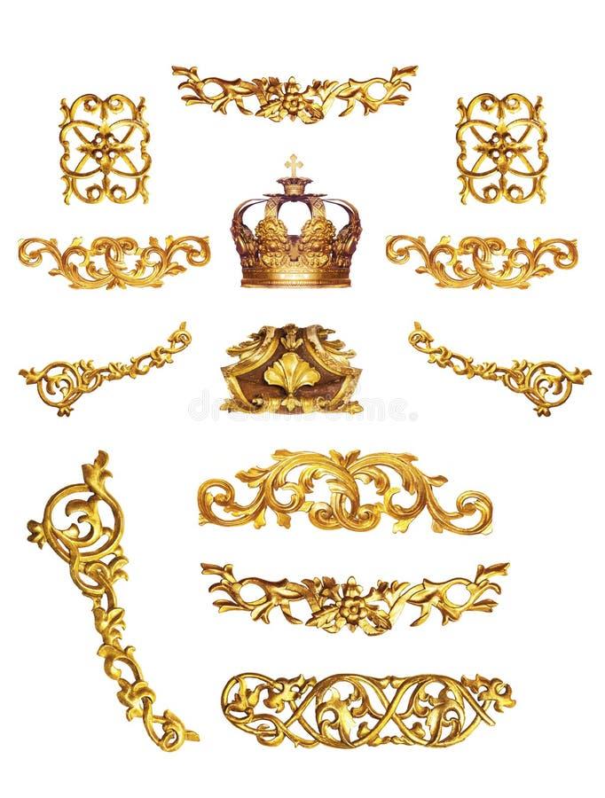 Gouden detail royalty-vrije stock foto