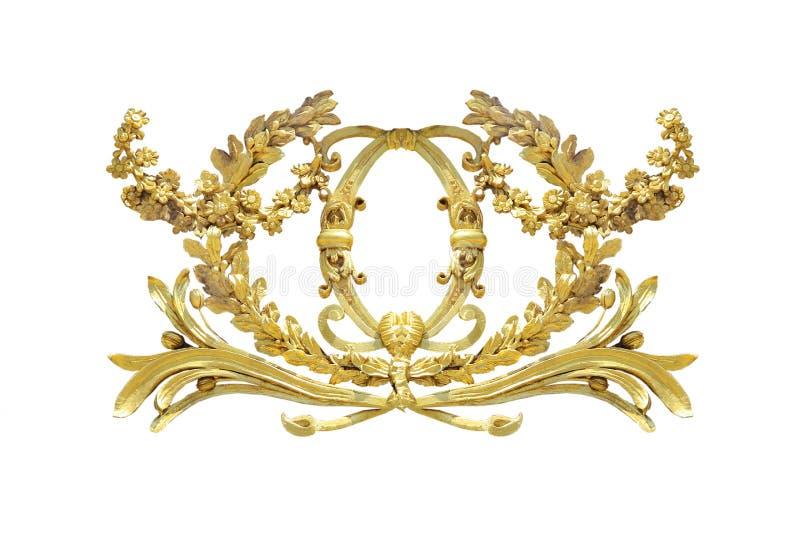 Gouden detail op een wit royalty-vrije stock afbeelding