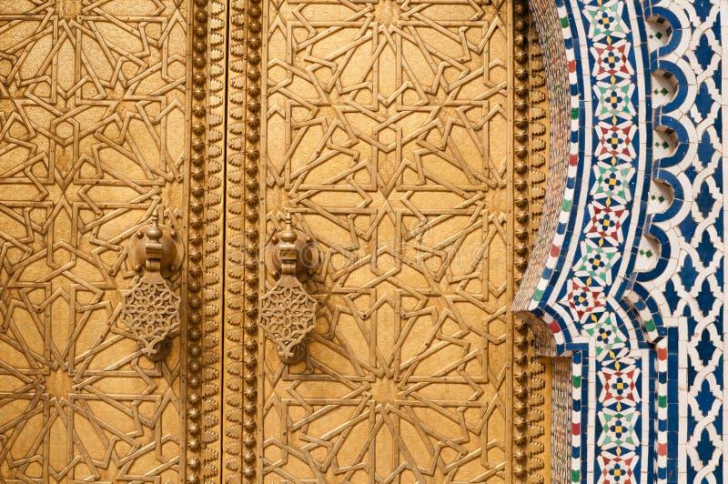 Gouden deurdetail royalty-vrije stock foto's