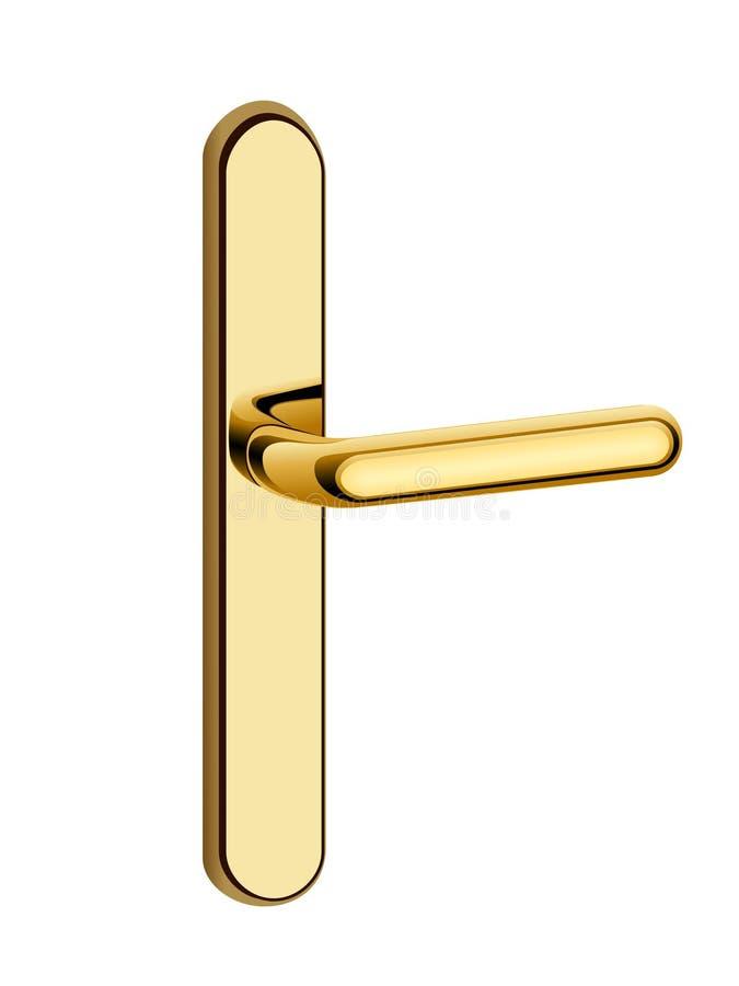 Gouden deurhandvat royalty-vrije illustratie