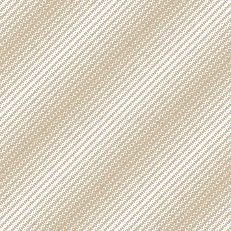 Gouden diagonaal halftone naadloos patroon Witte en gouden vectortextuur van netwerk stock illustratie