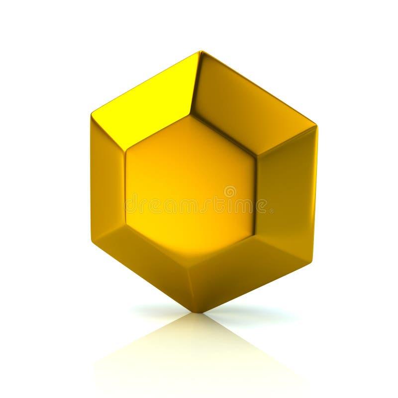 Gouden diamantpictogram vector illustratie