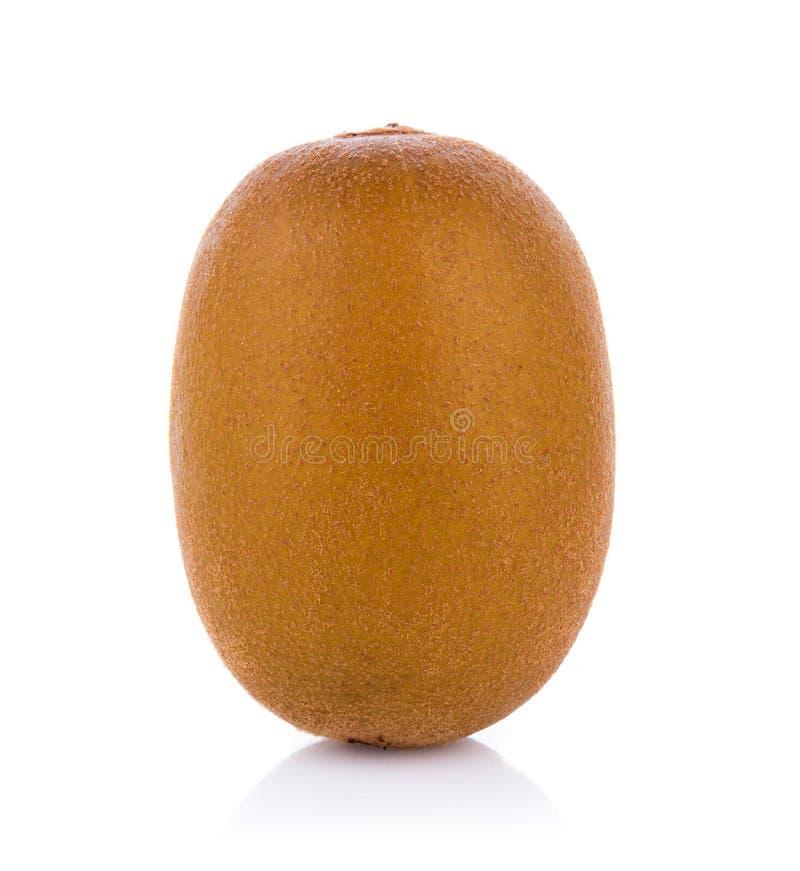 Gouden die kiwifruit op witte achtergrond wordt geïsoleerd stock afbeeldingen