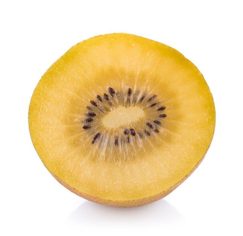 Gouden die kiwifruit op witte achtergrond wordt geïsoleerd royalty-vrije stock fotografie