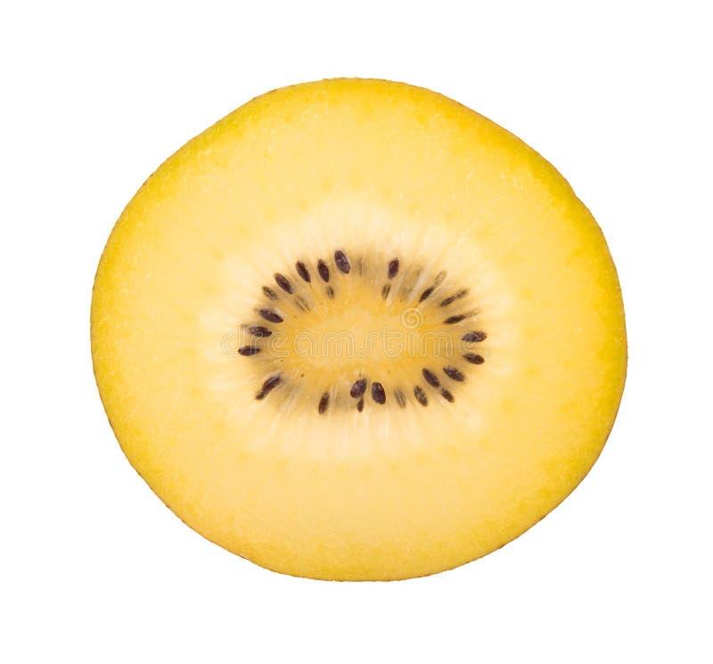 Gouden die kiwifruit op witte achtergrond wordt geïsoleerd royalty-vrije stock afbeelding