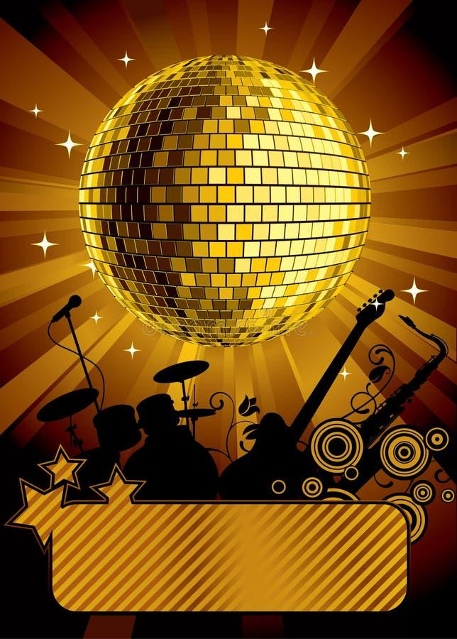 Gouden discobal vector illustratie