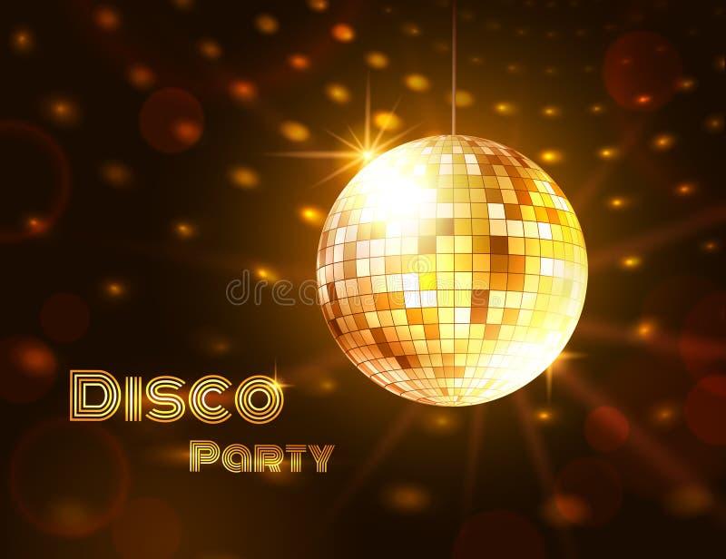 Gouden discobal Vector illustratie vector illustratie