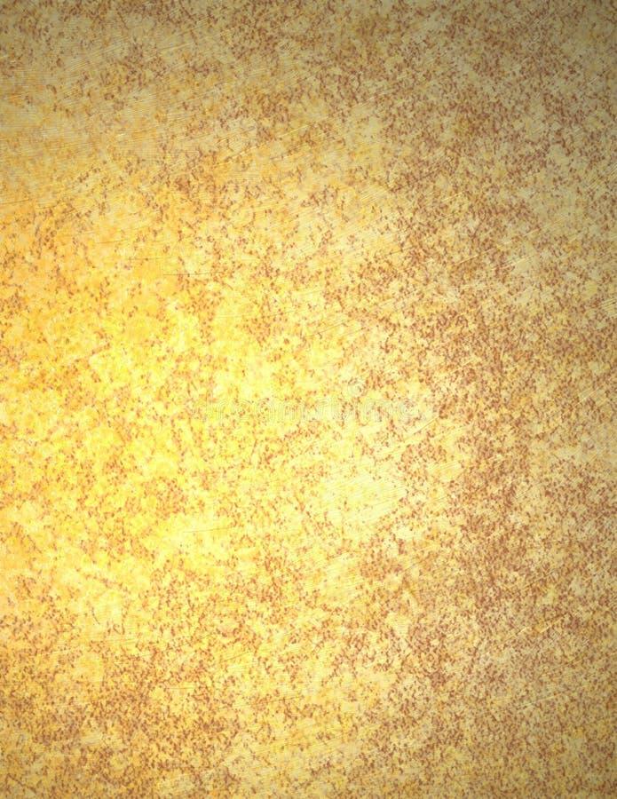 Gouden Document Als achtergrond of Perkament royalty-vrije illustratie