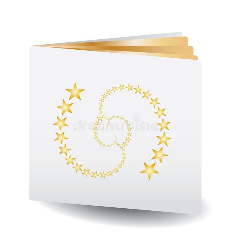 Gouden document boek vector illustratie