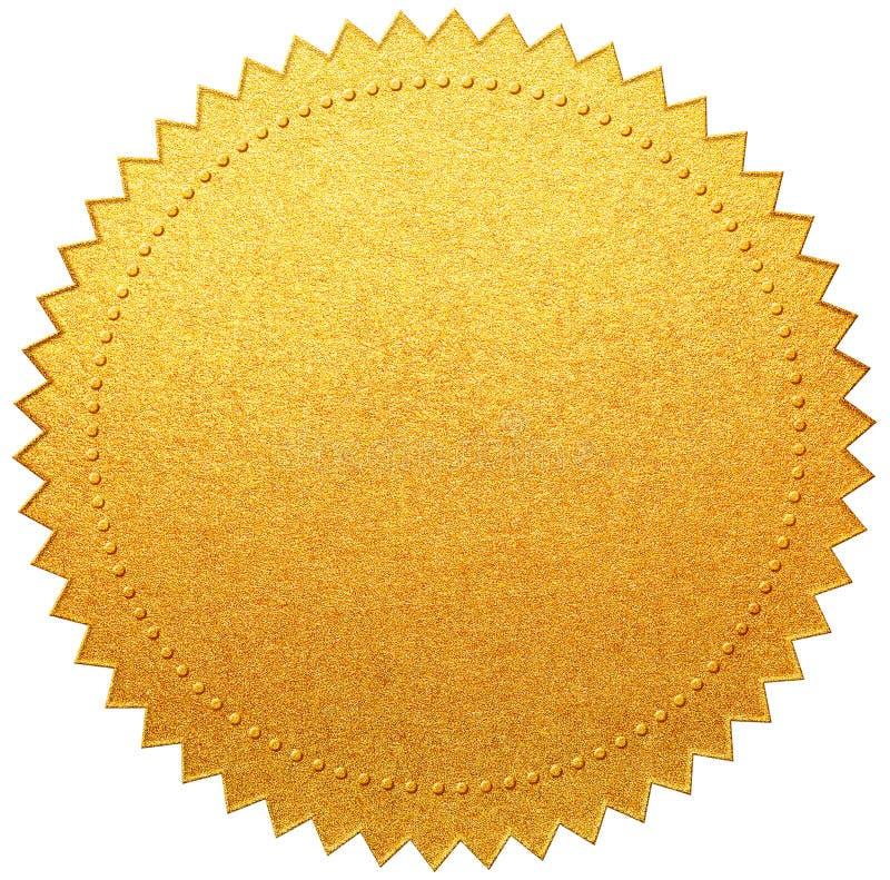 Gouden document diploma of geïsoleerde certificaatverbinding royalty-vrije stock afbeeldingen