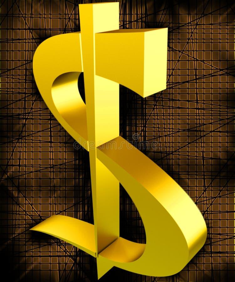 Gouden dollar royalty-vrije stock foto's