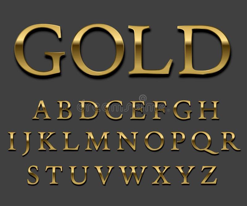 Gouden doopvont vector illustratie