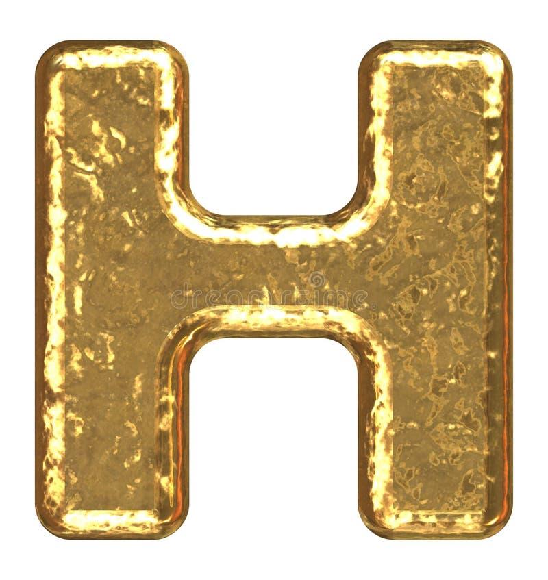 Gouden doopvont. Brief H. vector illustratie