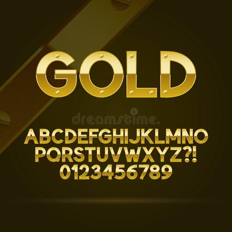 Gouden Doopvont en Aantallen stock illustratie
