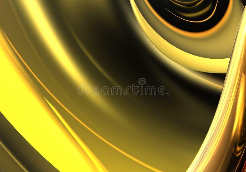 Gouden draden 03 royalty-vrije illustratie