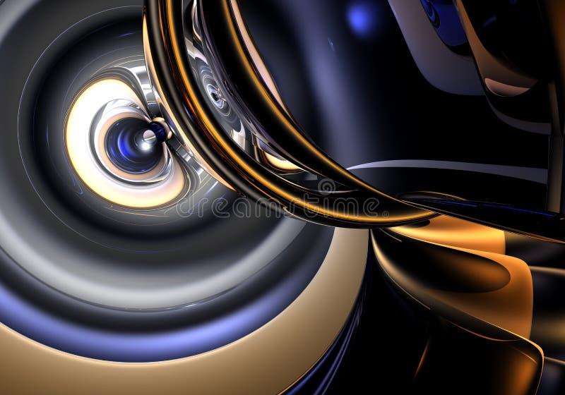 Gouden draden in de ruimte (samenvatting) vector illustratie
