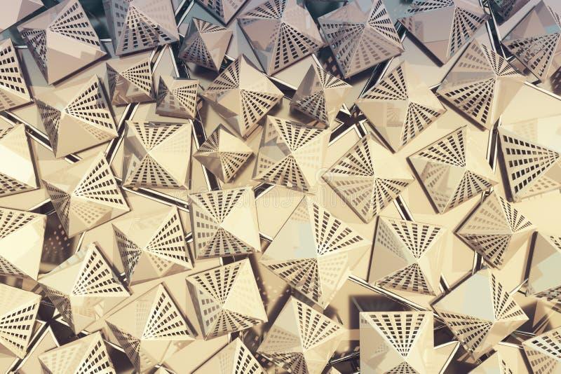 Gouden driehoeksachtergrond vector illustratie