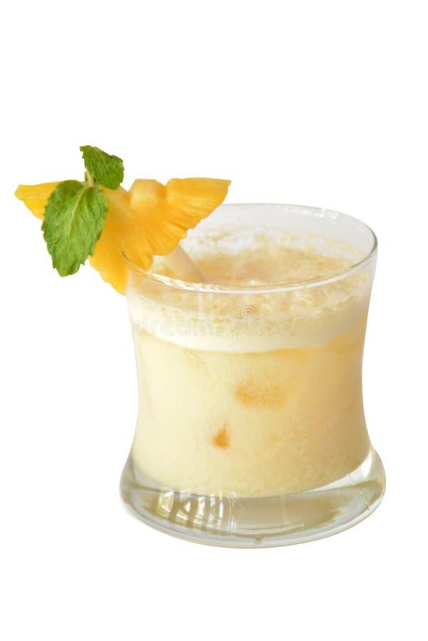 Gouden droomcocktails en alcohol op witte achtergrond stock fotografie