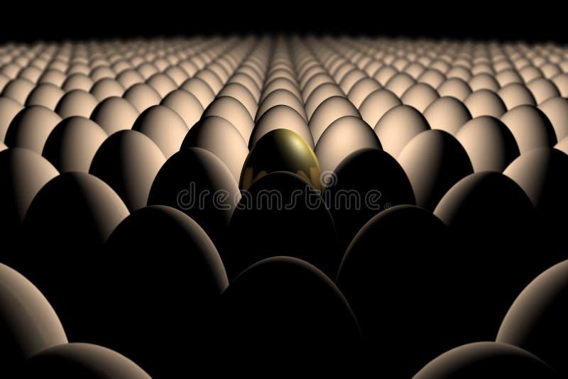 Gouden Ei stock illustratie