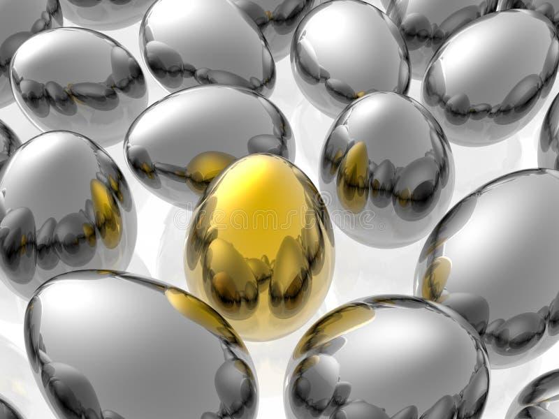 Gouden ei royalty-vrije illustratie