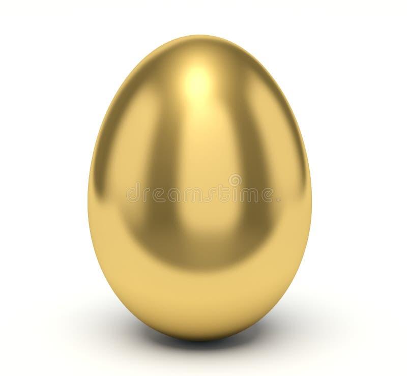 Gouden Ei Vlotte oppervlakte royalty-vrije illustratie