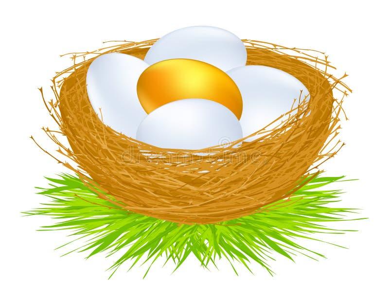 Gouden eieren stock illustratie