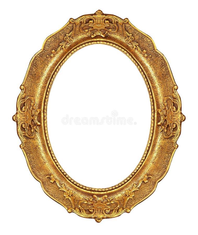 Gouden elegante omlijsting stock foto