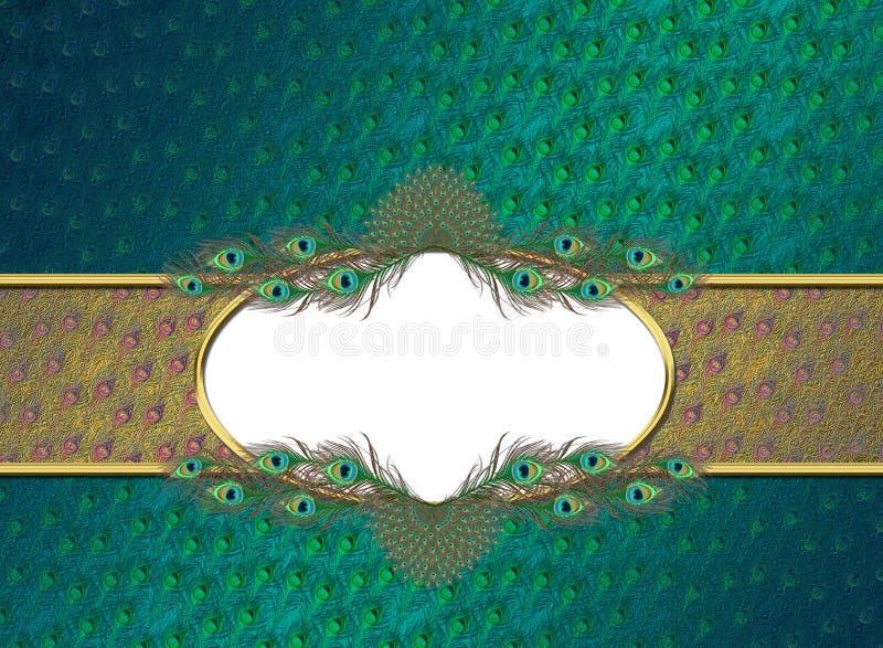 Gouden elegante verenbanner royalty-vrije illustratie