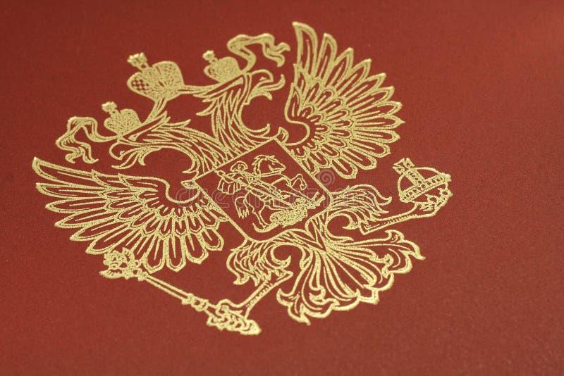 Gouden embleem van de Russische Federatie o royalty-vrije stock foto