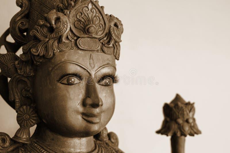 Gouden en grijze Hindoese Godin geïsoleerde Kali royalty-vrije stock fotografie