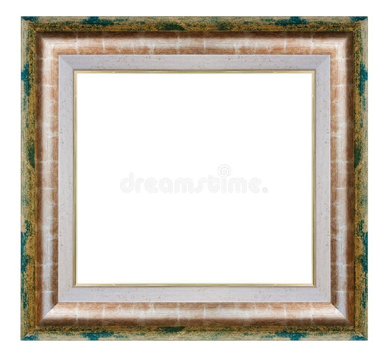 Gouden en groen kader stock afbeeldingen