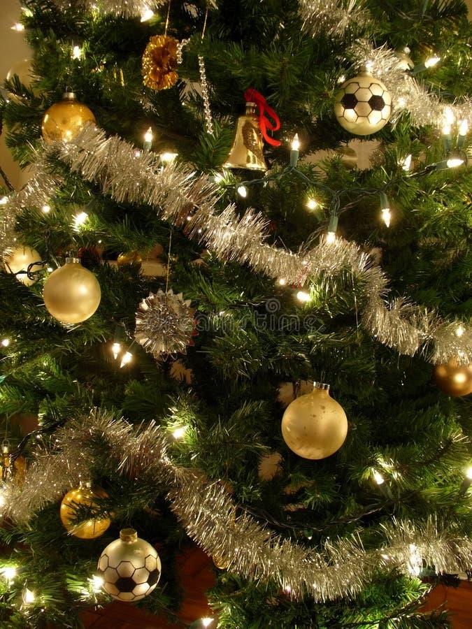 Gouden en Zilveren Kerstboom stock fotografie