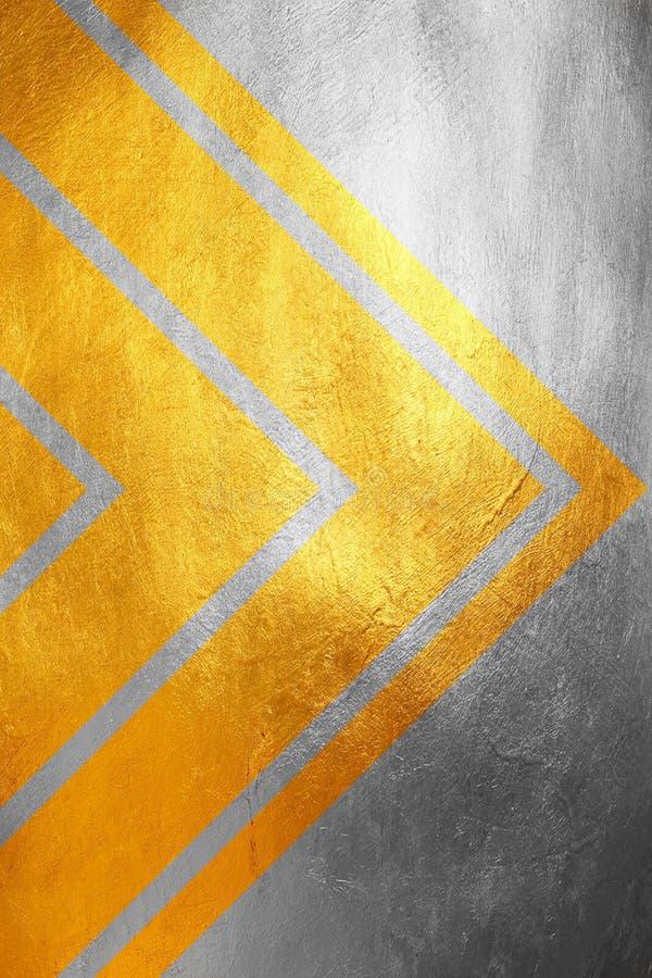 Gouden en zilveren schitterend grungy textuurpatroon, creatieve/unieke luxueuze abstracte achtergrond Het element van het ontwerp royalty-vrije stock afbeelding