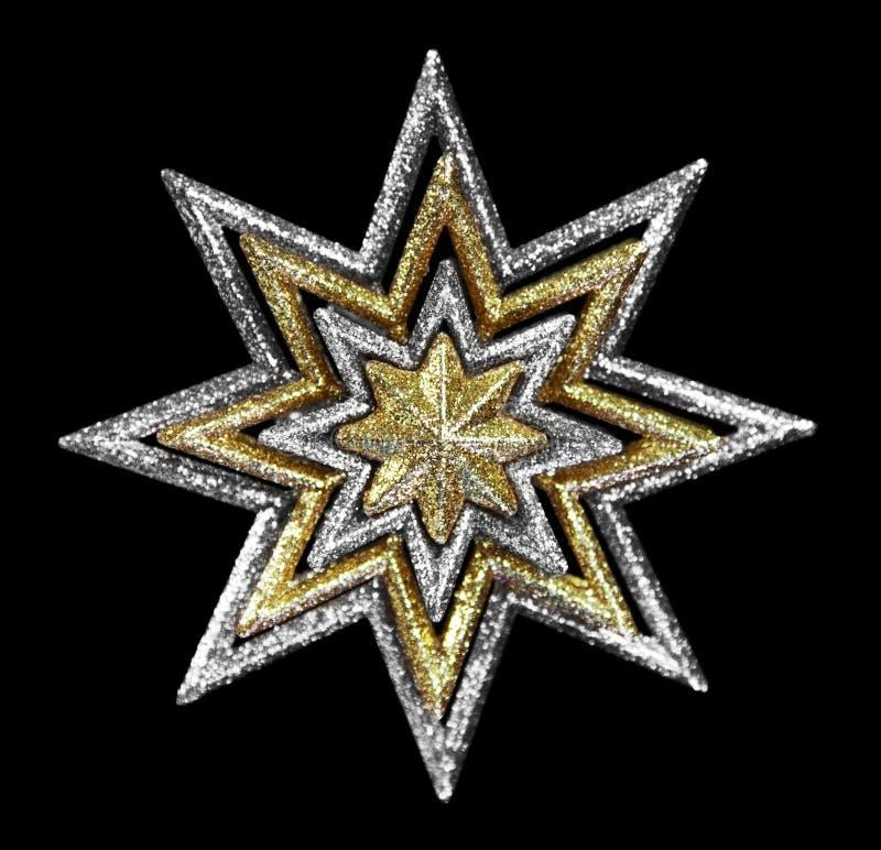 Gouden en Zilveren Ster royalty-vrije stock foto