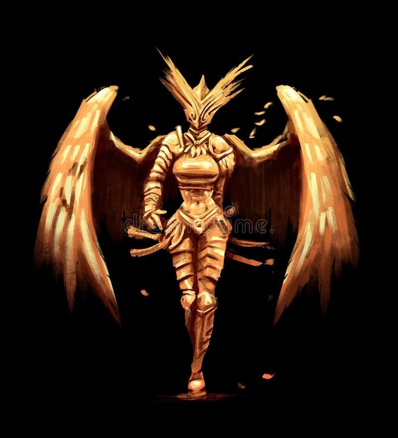 Gouden engelensamoeraien royalty-vrije illustratie