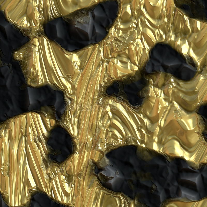 Gouden ertsrots royalty-vrije illustratie