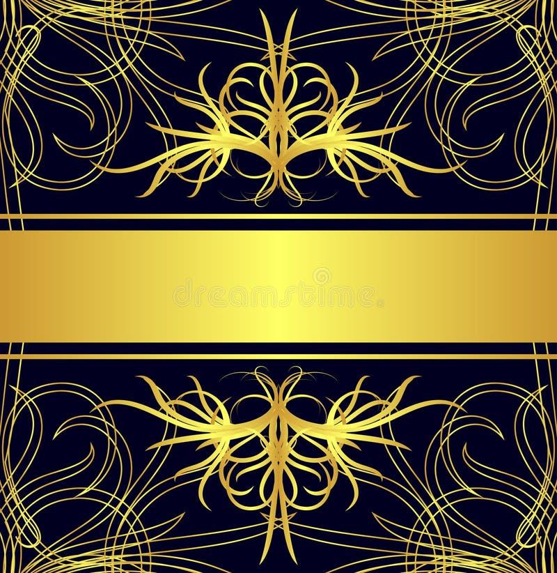 Gouden etiket royalty-vrije illustratie