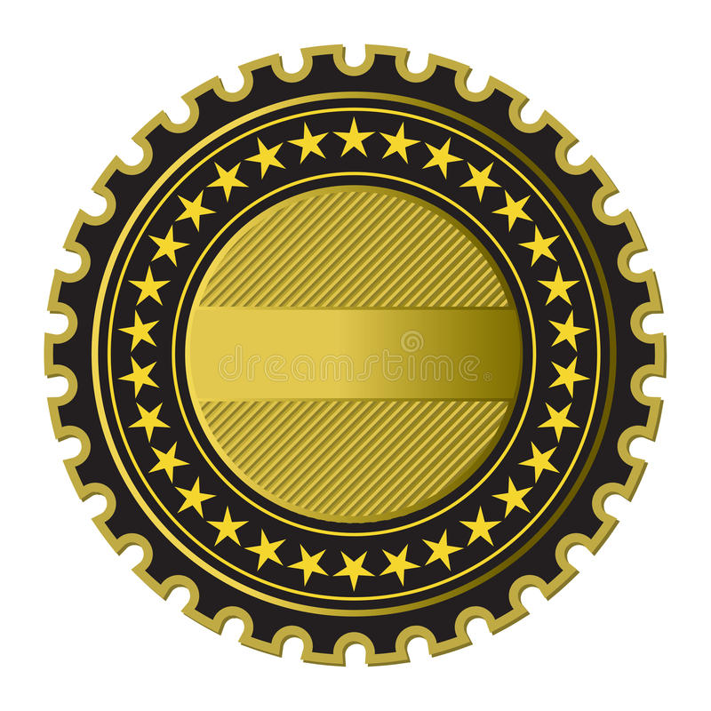 Gouden Etiket stock illustratie