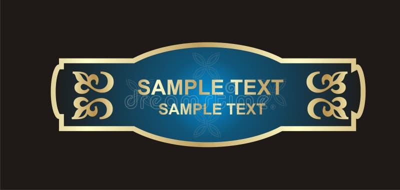 Gouden etiket vector illustratie